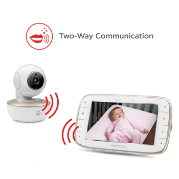 Motorola MBP855 Wi-Fi Connect Video Baby Monitor Talk