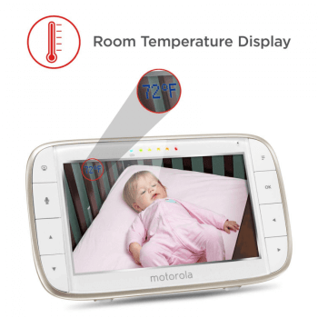 Motorola MBP855 Wi-Fi Connect Video Baby Monitor Room Temp