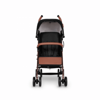 Ickle Bubba Discovery Stroller - Black / Rose Gold - Front Alt