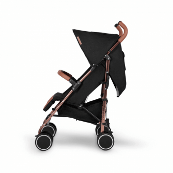 Ickle Bubba Discovery Stroller - Black / Rose Gold - Side Alt
