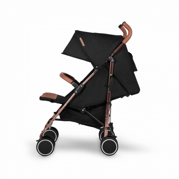Ickle Bubba Discovery Stroller - Black / Rose Gold - Side Ext