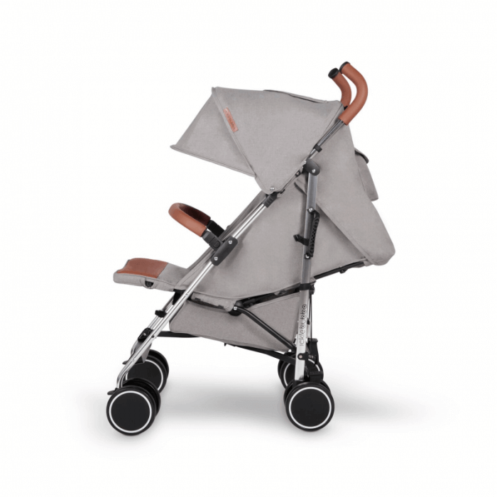 Ickle Bubba Discovery Stroller - Grey / Silver - Side Ext