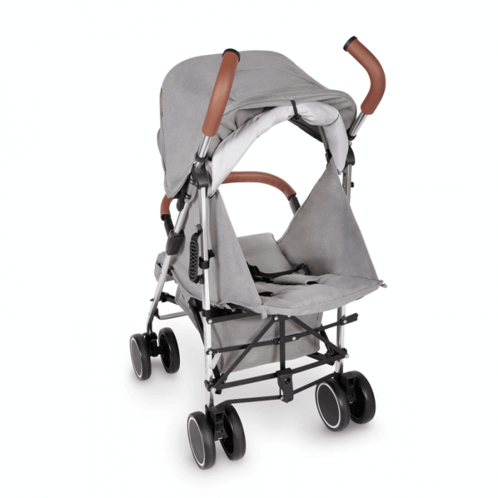 Ickle Bubba Discovery Stroller - Grey / Silver - Back Ext