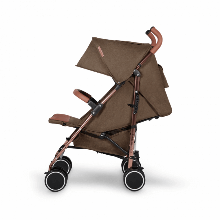 Ickle Bubba Discovery Stroller - Khaki / Rose Gold - Side Ext