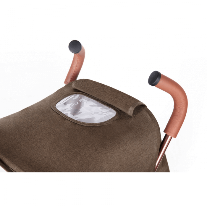 Ickle Bubba Discovery Stroller - Khaki / Rose Gold - Handle