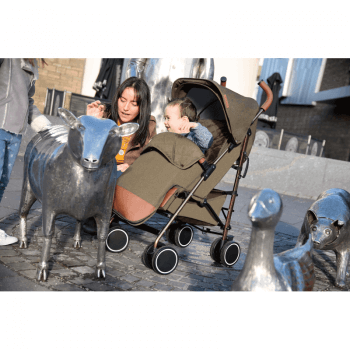 Ickle Bubba Discovery Stroller - Khaki / Rose Gold - Lifestyle 1
