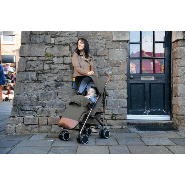 Ickle Bubba Discovery Stroller - Khaki / Rose Gold - Lifestyle 2