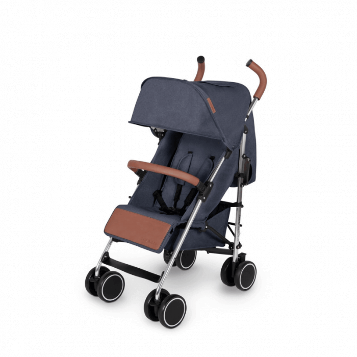 Ickle Bubba Discovery Max Stroller - Denim Blue / Silver - Left