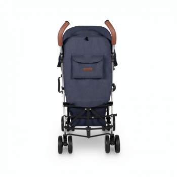 Ickle Bubba Discovery Max Stroller - Denim Blue / Silver - Back