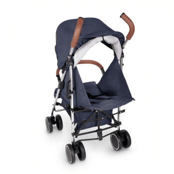Ickle Bubba Discovery Max Stroller - Denim Blue / Silver - Back Ext