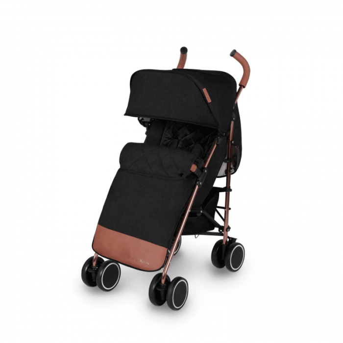 Ickle Bubba Discovery Prime Stroller - Black / Rose Gold