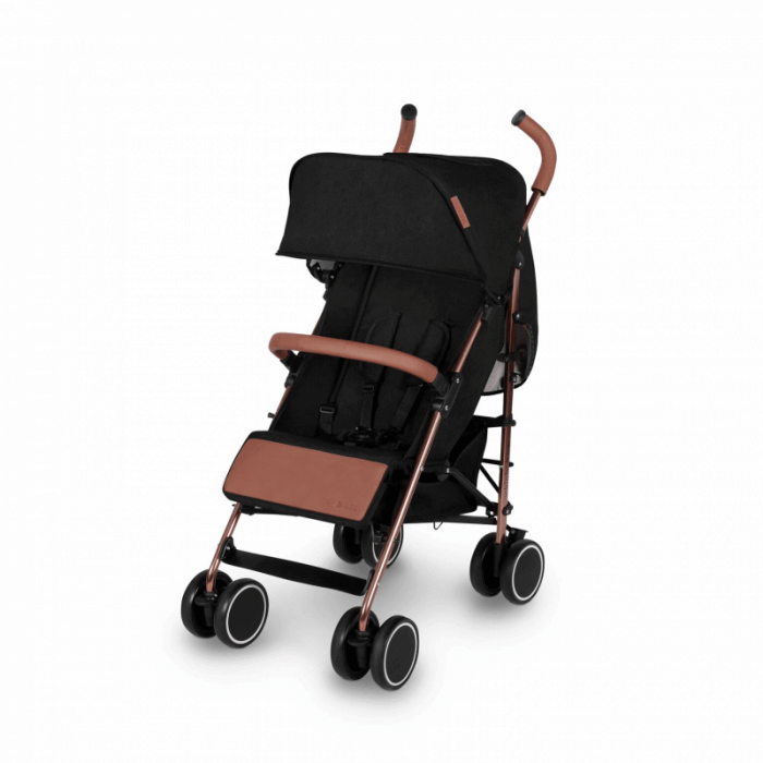 Ickle Bubba Discovery Prime Stroller - Black / Rose Gold - Left