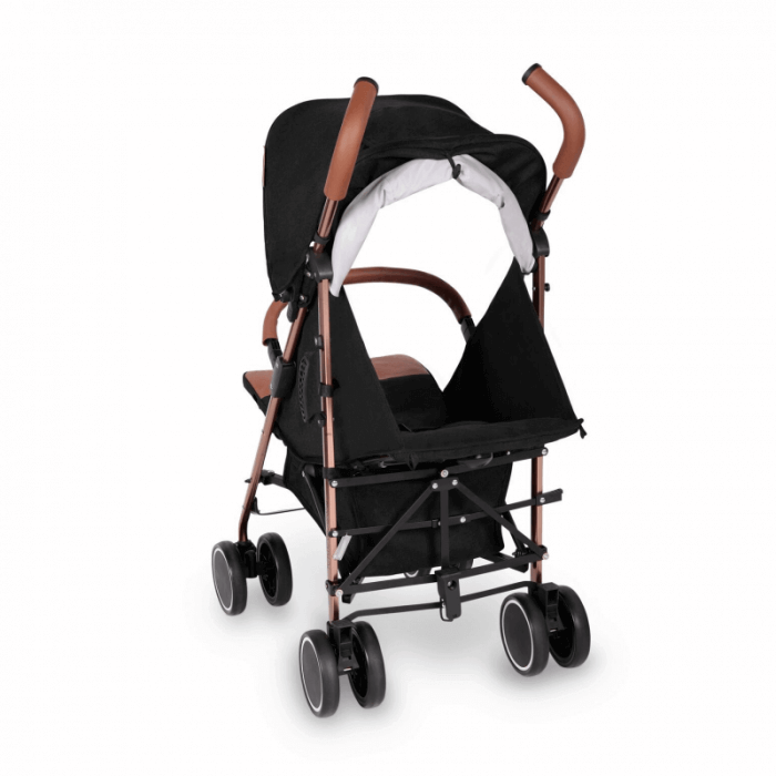 Ickle Bubba Discovery Prime Stroller - Black / Rose Gold - Back Ext