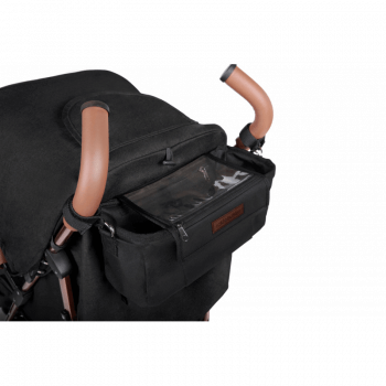 Ickle Bubba Discovery Prime Stroller - Black / Rose Gold - Organiser