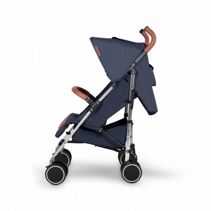 Ickle Bubba Discovery Prime Stroller - Denim Blue / Silver - Side