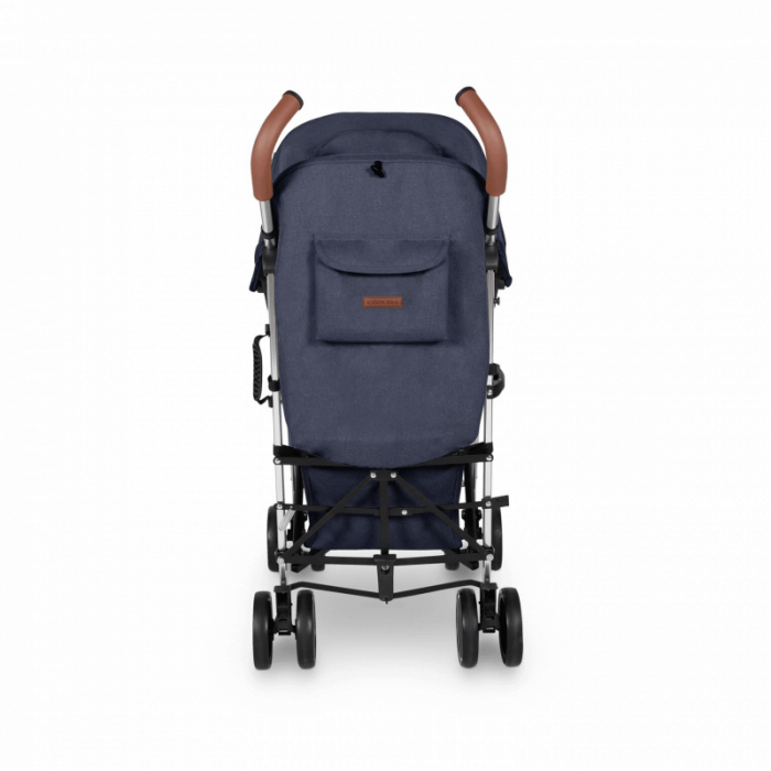 Ickle Bubba Discovery Prime Stroller - Denim Blue / Silver - Back