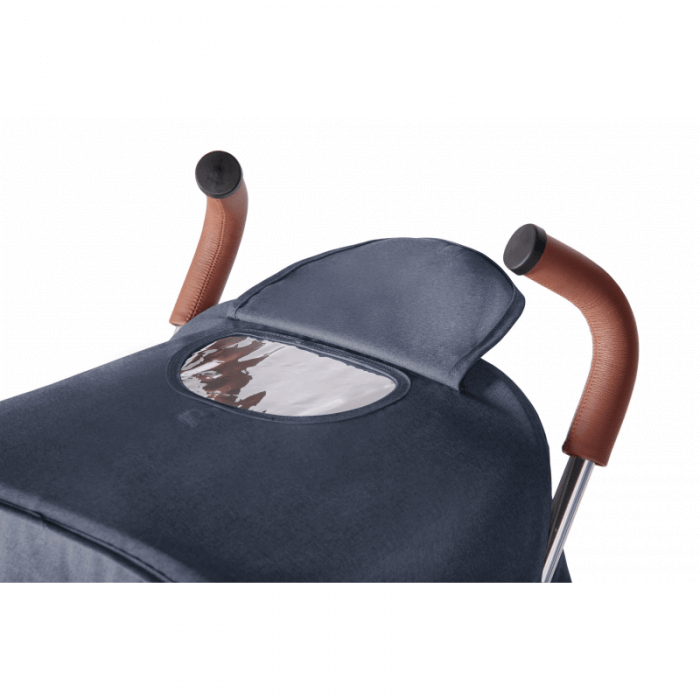 Ickle Bubba Discovery Prime Stroller - Denim Blue / Silver - Handle