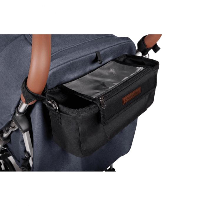 Ickle Bubba Discovery Prime Stroller - Denim Blue / Silver - Organiser