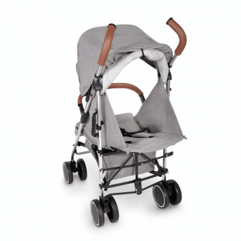 Ickle Bubba Discovery Prime Stroller - Grey / Silver - Back Ext