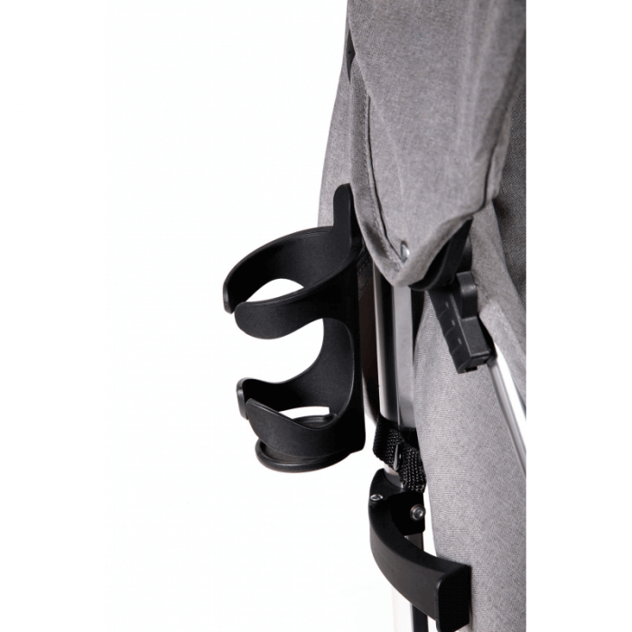 Ickle Bubba Discovery Prime Stroller - Grey / Silver - Cup Holder