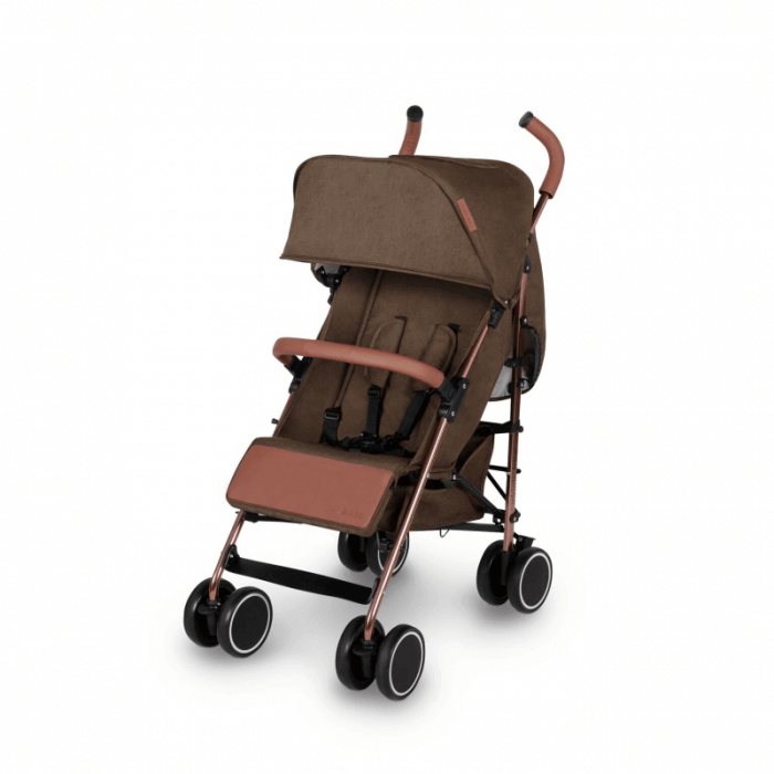 Ickle Bubba Discovery Prime Stroller - Khaki / Rose Gold - Left