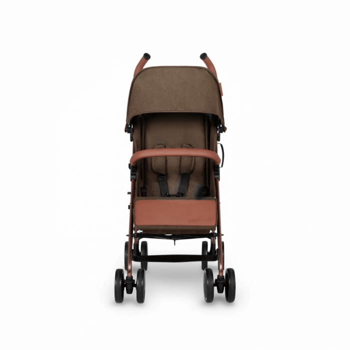 Ickle Bubba Discovery Prime Stroller - Khaki / Rose Gold - Front Alt