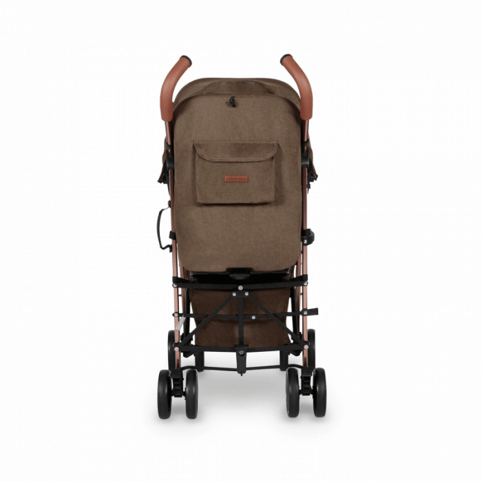 Ickle Bubba Discovery Prime Stroller - Khaki / Rose Gold - Back