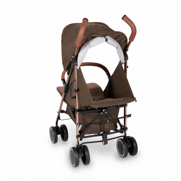 Ickle Bubba Discovery Prime Stroller - Khaki / Rose Gold - Back Ext