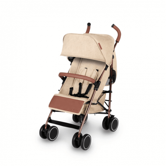 Ickle Bubba Discovery Prime Stroller - Sand / Rose Gold - Left