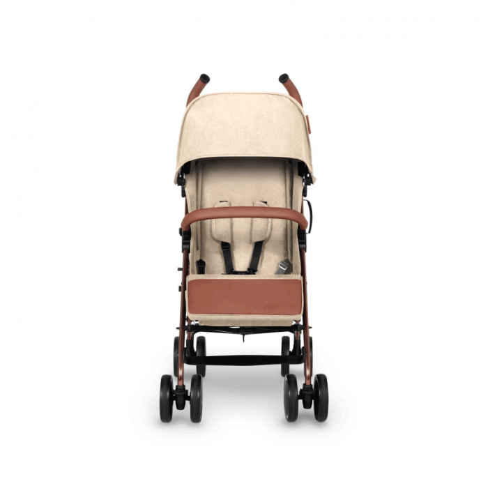 Ickle Bubba Discovery Prime Stroller - Sand / Rose Gold - Front Alt