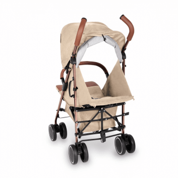 Ickle Bubba Discovery Prime Stroller - Sand / Rose Gold - Back Ext