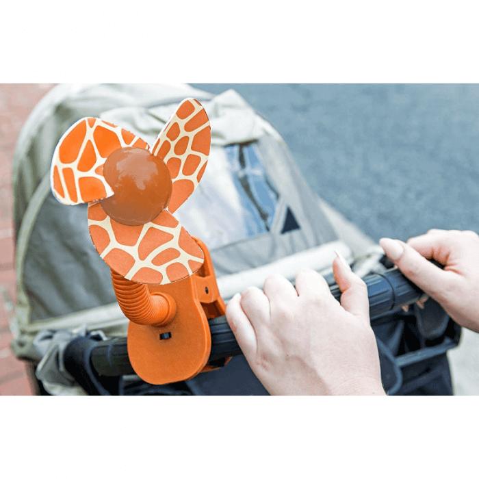 Dreambaby Portable Stroller Fan - Giraffe - Lifestyle