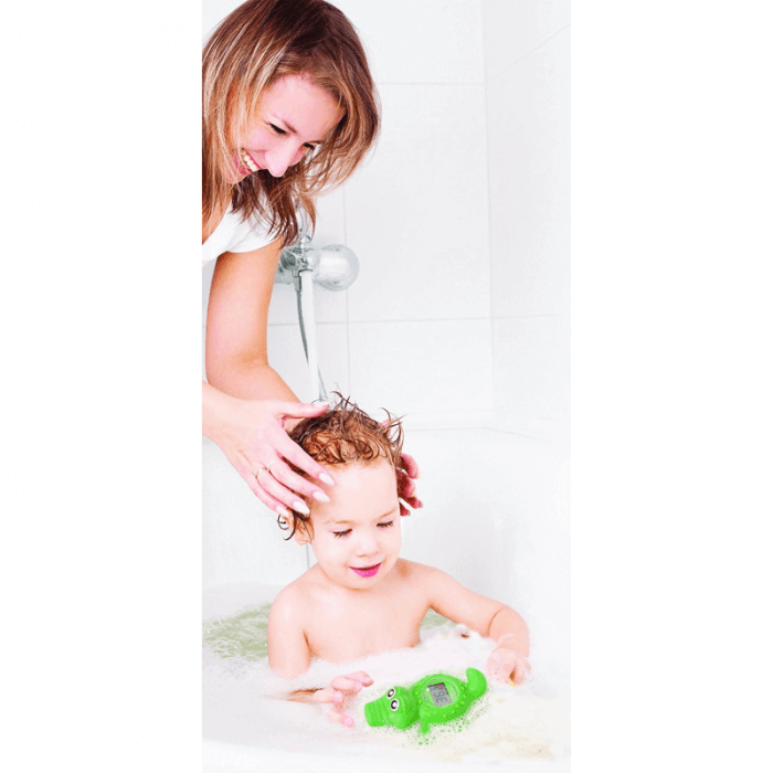 Dreambaby Crocodile Bath & Room Thermometer - Lifestyle