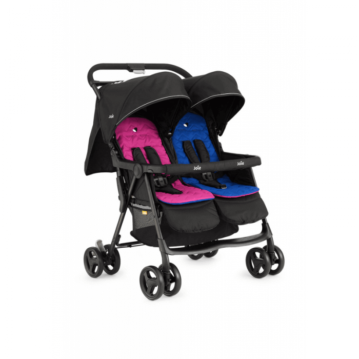Joie Aire Twin Stroller - Pink & Blue