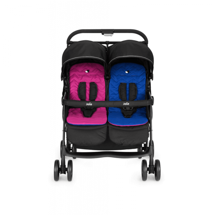 Joie Aire Twin Stroller - Pink & Blue - Front