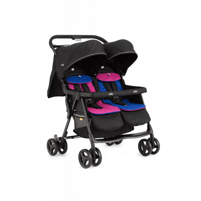 Joie Aire Twin Stroller - Pink & Blue - Right