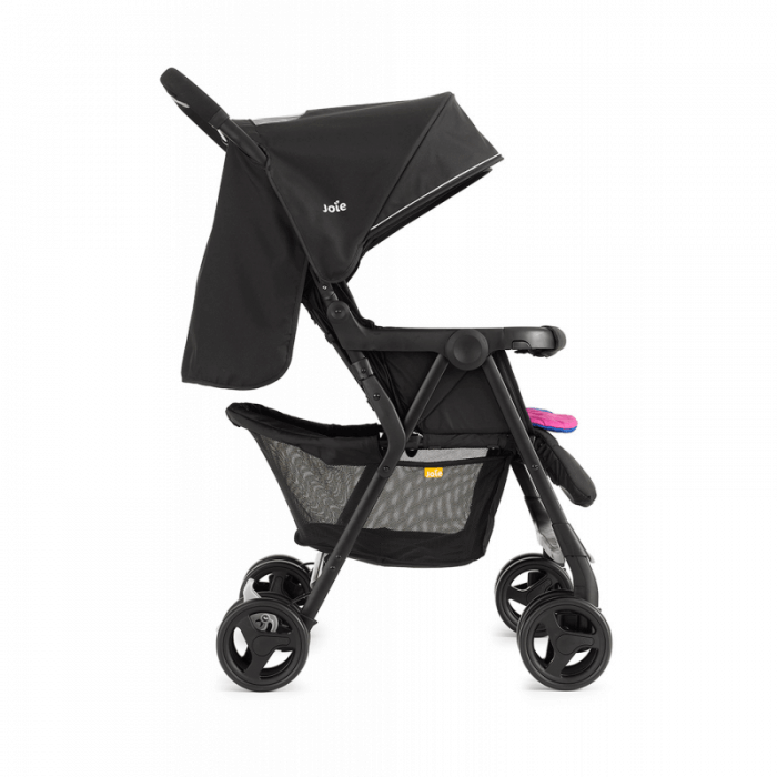 Joie Aire Twin Stroller - Pink & Blue - Side
