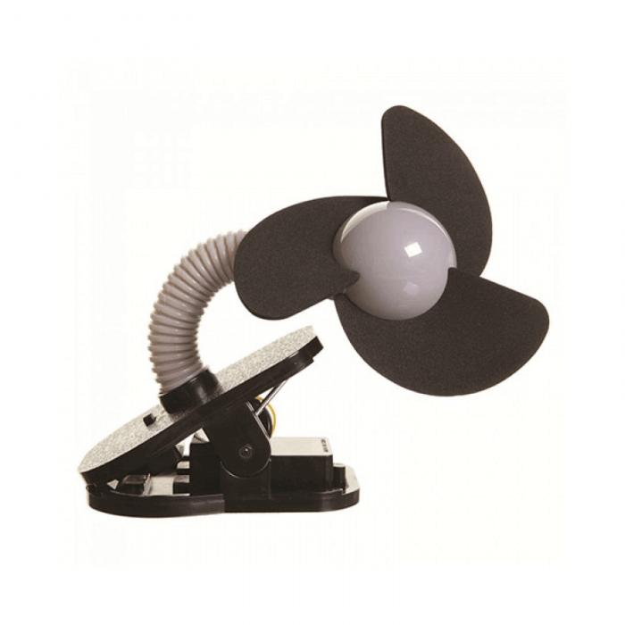 Dreambaby Portable Stroller Fan - Black - Side