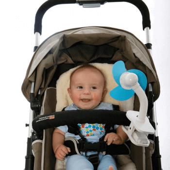 Dreambaby Portable Stroller Fan - Blue - Lifestyle