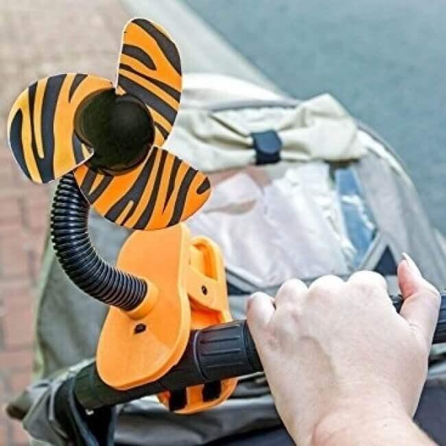Dreambaby Portable Stroller Fan - Tiger - Lifestyle