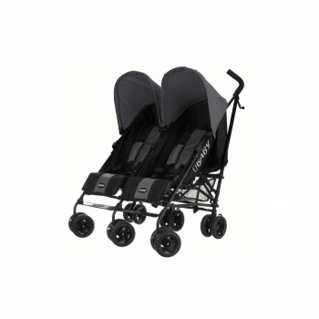 Obaby Apollo Twin Stroller - Black / Grey