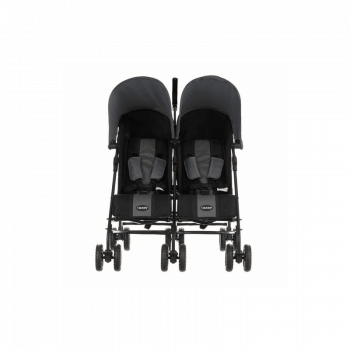 Obaby Apollo Twin Stroller - Black / Grey - Front