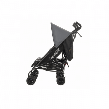 Obaby Apollo Twin Stroller - Black / Grey - Side