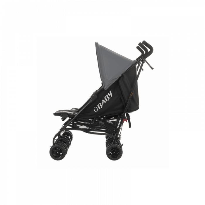 Obaby Apollo Twin Stroller - Black / Grey - Side Alt