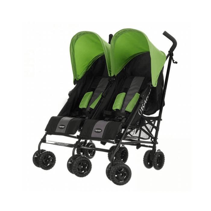Obaby Apollo Twin Stroller - Black / Lime