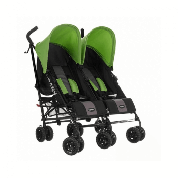 Obaby Apollo Twin Stroller - Black / Lime - Right