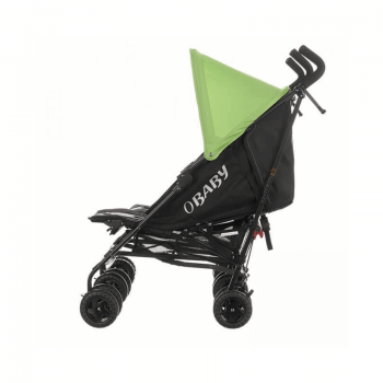 Obaby Apollo Twin Stroller - Black / Lime - Side