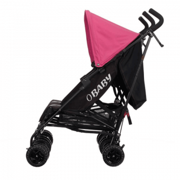 Obaby Apollo Twin Stroller - Black / Pink - Side