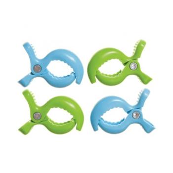Dreambaby Strollerbuddy Stroller Clips - Blue & Green