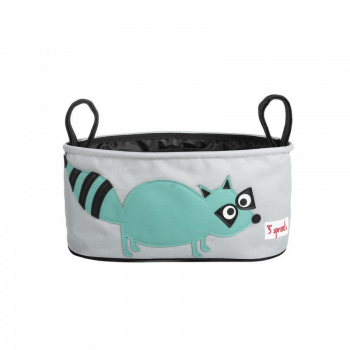 3 Sprouts Stroller Organiser - Raccoon